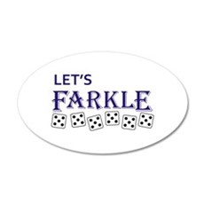 LETS FARKLE Wall Decal