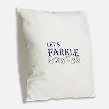 LETS FARKLE Burlap Throw Pillow