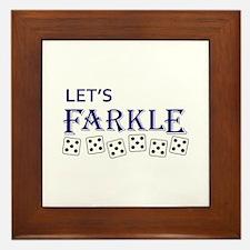 LETS FARKLE Framed Tile