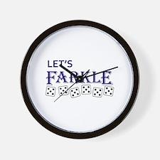 LETS FARKLE Wall Clock