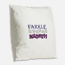 FARKLE MADDNESS Burlap Throw Pillow