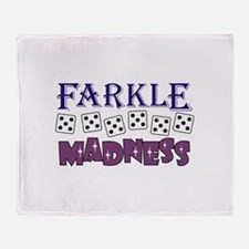 FARKLE MADDNESS Throw Blanket