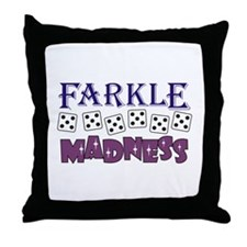 FARKLE MADDNESS Throw Pillow