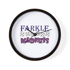 FARKLE MADDNESS Wall Clock