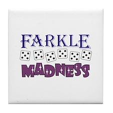 FARKLE MADDNESS Tile Coaster