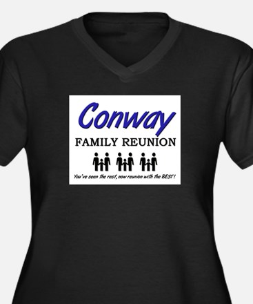 Conway Family Reunion Women's Plus Size V-Neck Dar