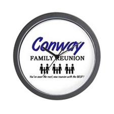 Conway Family Reunion Wall Clock