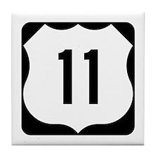 US Route 11 Tile Coaster