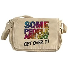 Some people are gay - get over it! Messenger Bag