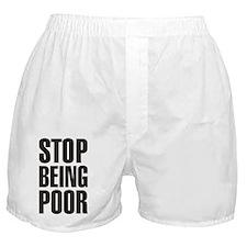 Stop Being Poor (Paris Hilton) Boxer Shorts