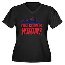 Legion of Wh Women's Plus Size V-Neck Dark T-Shirt