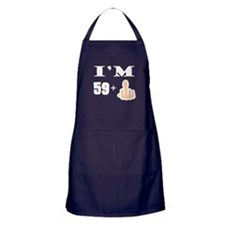 Middle Finger 60th Birthday Apron (dark)