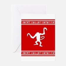 Year of the Monkey Chinese Zodiac symbol Greeting