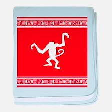 Year of the Monkey Chinese Zodiac symbol baby blan