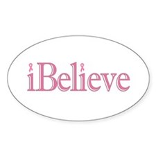 iBelieve Oval Decal