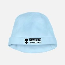 Alien Inside Black baby hat