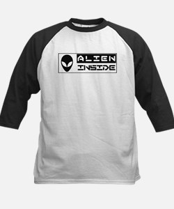 Alien Inside Black Baseball Jersey