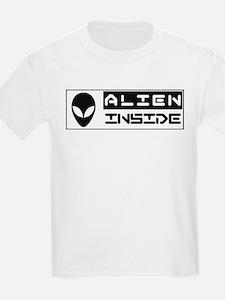Alien Inside White T-Shirt