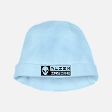 Alien Inside White baby hat