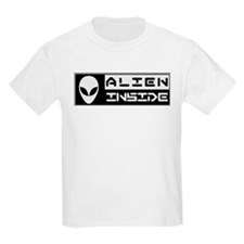Alien Inside Black T-Shirt