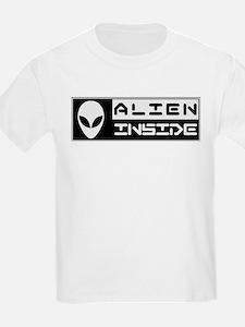 Alien Inside Black T-Shirt