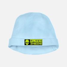 Alien Inside Yellow baby hat