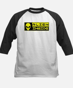 Alien Inside Yellow Baseball Jersey