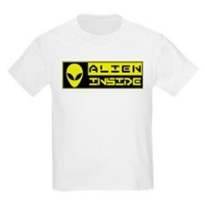 Alien Inside Yellow T-Shirt