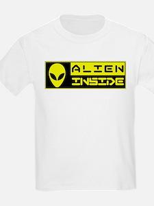 Alien Inside Yellow T-Shirt