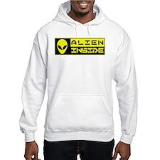 Alien Inside Yellow Hoodie