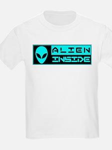 Alien Inside Cyan T-Shirt
