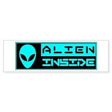 Alien Inside Cyan Bumper Bumper Sticker