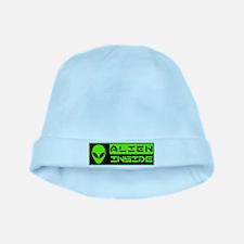 Alien Inside Green baby hat