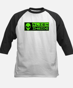 Alien Inside Green Baseball Jersey