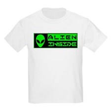 Alien Inside Green T-Shirt