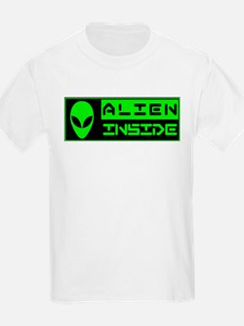 Alien Inside Green T-Shirt