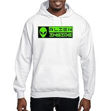 Alien Inside Green Hoodie