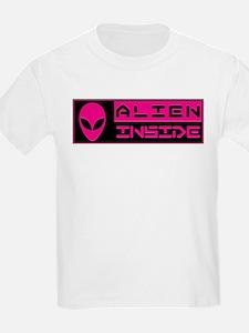Alien Inside Magenta T-Shirt