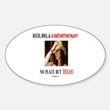 Welcome to Texas! #881 Sticker (Oval)