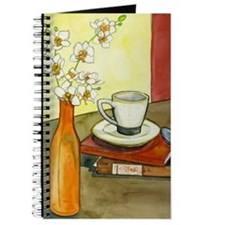 Coffee & Orchid Still Life Journal