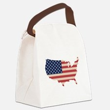 United States Flag Canvas Lunch Bag