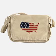 United States Flag Messenger Bag