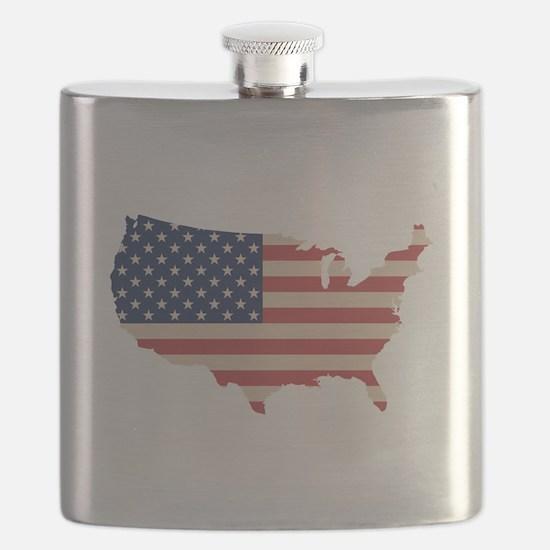 United States Flag Flask
