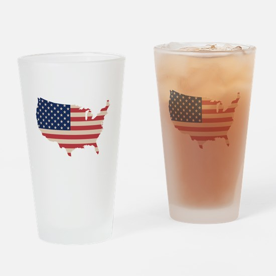 United States Flag Drinking Glass