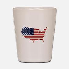 United States Flag Shot Glass