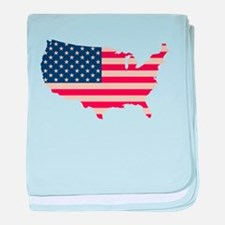 United States Flag baby blanket