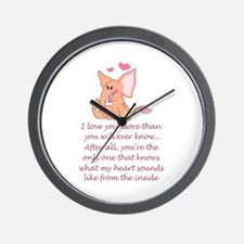 I Love You More Than You Will Wall Clock