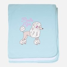 POODLE MOM baby blanket