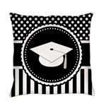 Graduation Gift Dots Stripes Everyday Pillow
