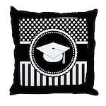 Graduation Gift Dots Stripes Throw Pillow